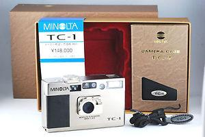 Minolta TC 1 35mm P s Film Camera with 28 3 5 G Rokkor Lens in Box 50
