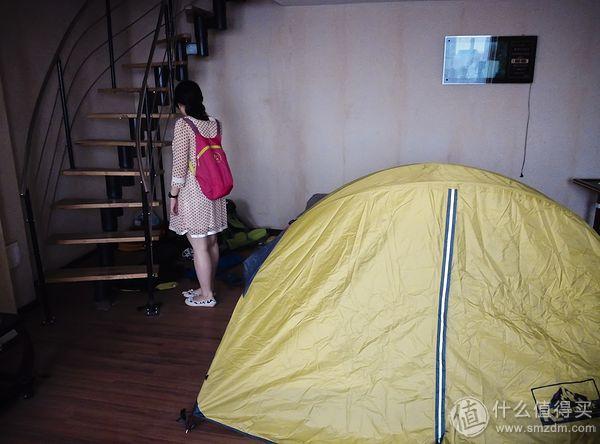 重量达到2.6KG的普通双人帐篷 应女王大人要求抢镜0.0
