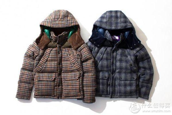 羊毛呢面料羽绒服