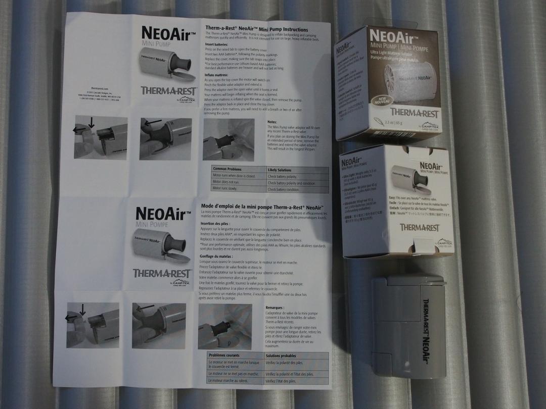 停止晕菜!!两款充气防潮垫的充气神器,Therm-a-rest NeoAir mini pump!!