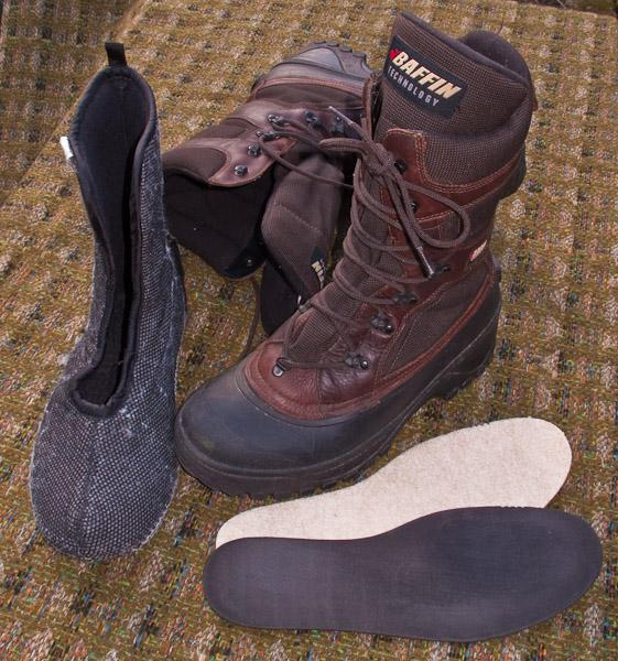 Pac Boots with poor quality sythetic liners.