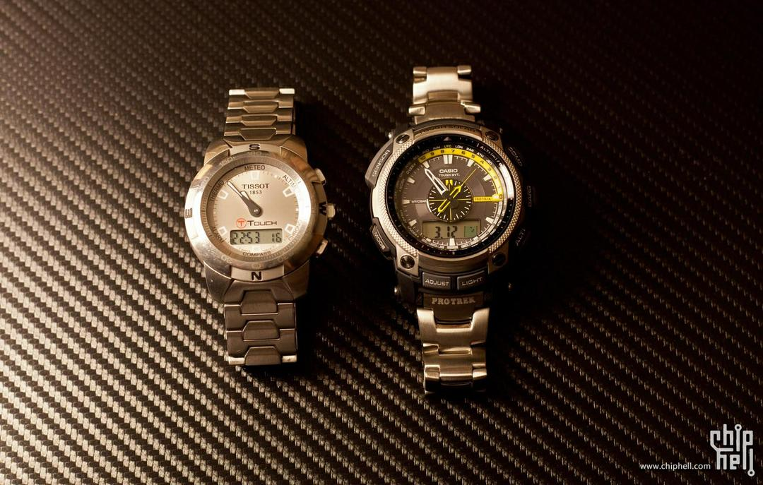 CASIO PRW-5000T-7D AND TISSOT T-Touch