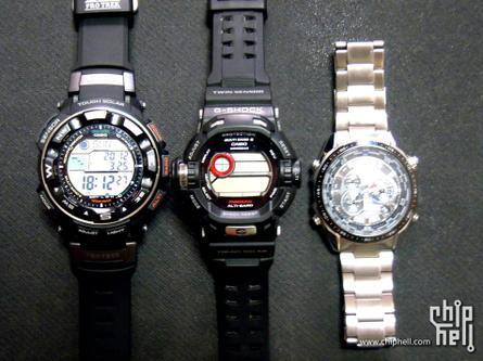 日本卡西欧太阳能电波手表一系列