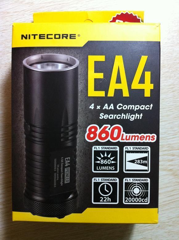 NITECORE EA4 手电数字光斑4AA 户外手电筒 测评报告