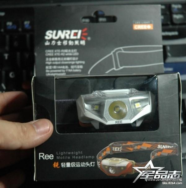 Sunree锐REE轻量化运动头灯评测