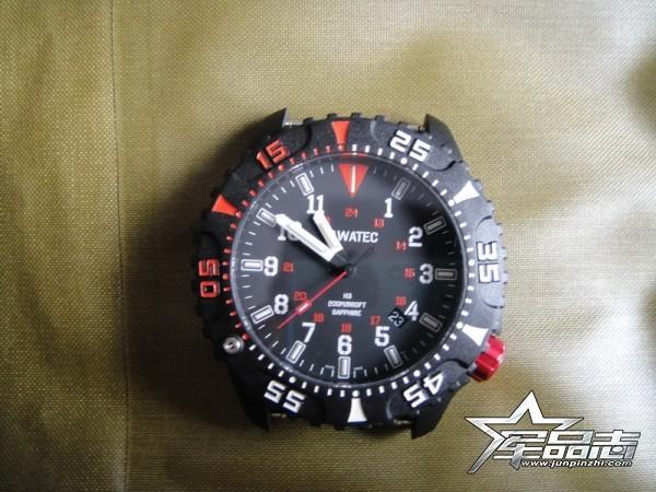 一款比较小众的氚气自发光手表(TAWATEC E.O.Diver MK II