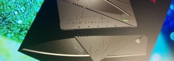 拆包裹与开箱利器,Iain Sinclair Credit Cardsharp信用卡式安全折叠刀