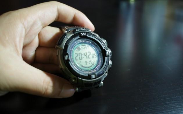 用时间来证明它的经典 CASIO PRG-130T-7V登山表