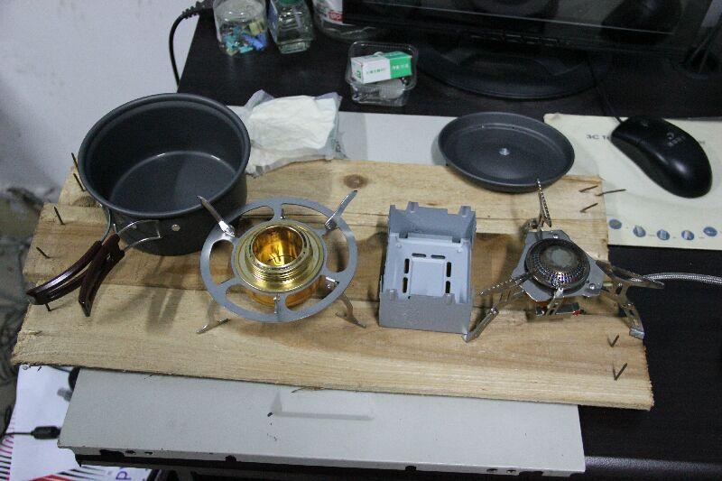 三种炉子,5种燃料,烧开水测试