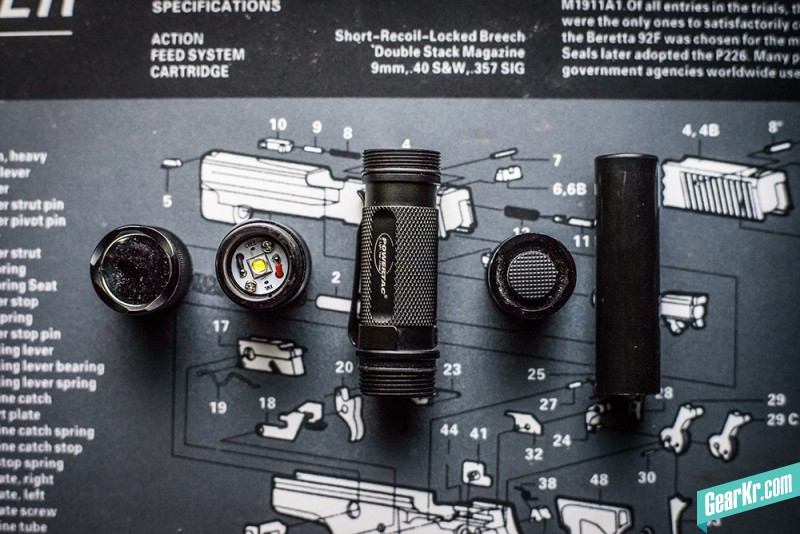 PowerTac E5手电筒兼容18650电池测试