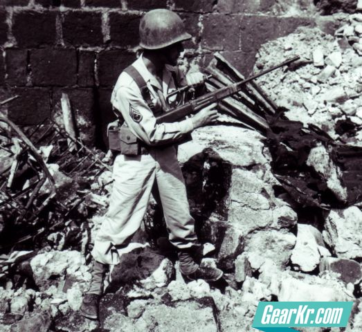 A group of U.S. Army Ordnance men stationed in the Philippines prototyped the Model 45A bullpup battle rifle in 1945