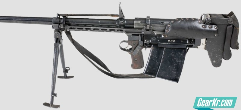 Probably the first ever mass-produced bullpup military issued weapon, the PzB M.SS.41 anti-tank rifle was manufactured in Czechoslovakia under Nazi occupation and used by German troops during World War II