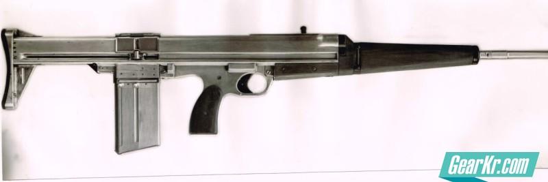 The experimental 7mm EM-1 Cobra  bullpup assault rifle