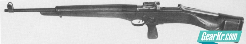 The SREM-1 manually operated experimental sniper rifle is another British prototype from 1944
