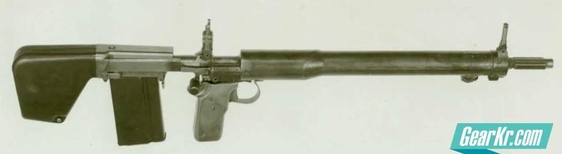 The U.S. 7,62x51mm prototype T31 bullpup rifle, designed by John Cantius Garand (year 1949)