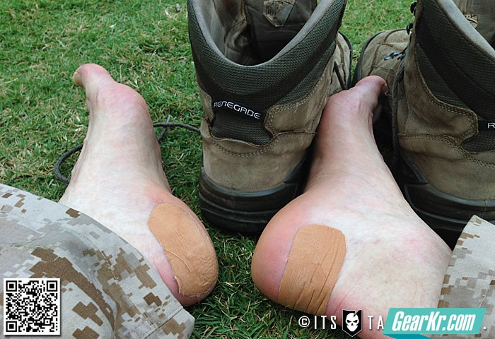 如何用雷可贴( Leukotape)保护你的玉足;防止起水泡的一点人生经验。