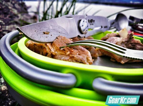 创意让户外更加安逸–KniSFor(纳膳)刀叉勺三合一多功能户外餐具测评