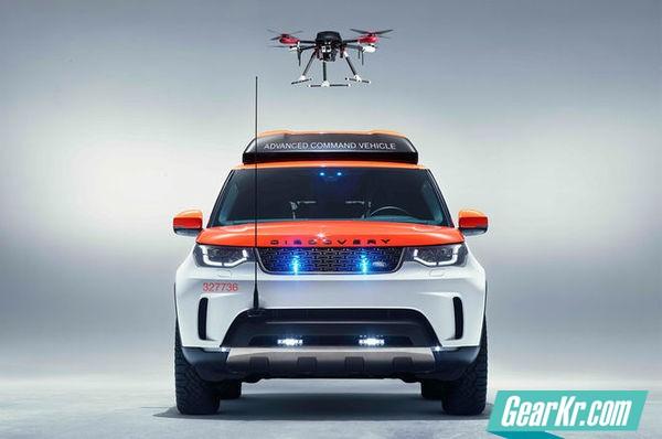 你咋不上天?搭载无人机的路虎发现全领域救援车