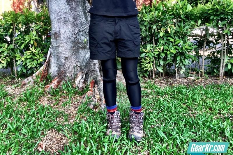 无惧下坡,3M弹性裤给予支撑好膝力