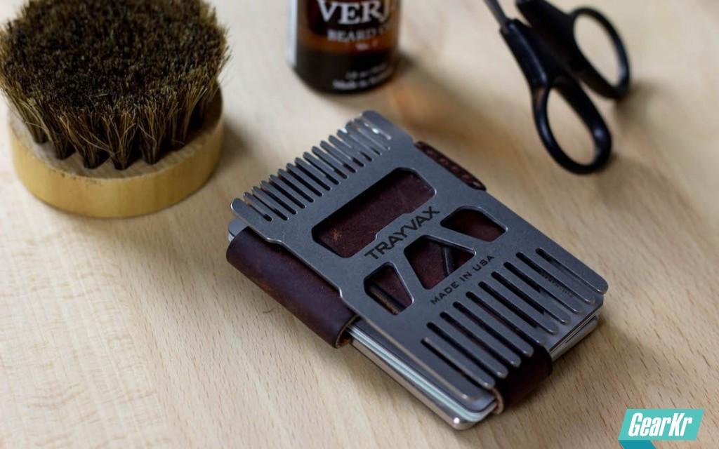 酷夯的EDC发型梳—Trayvax Shift便携钱夹梳