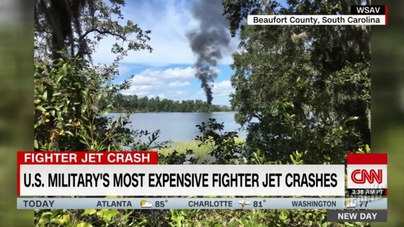【美国海军陆战队时报】一架F-35B在南卡罗来纳州博福特海军陆战队航空基地附近坠毁