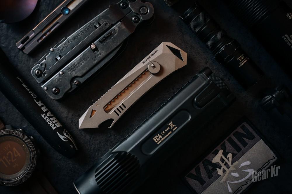 一款便于携带的和谐EDC刀具——奈特科尔NTK10钛合金美工刀
