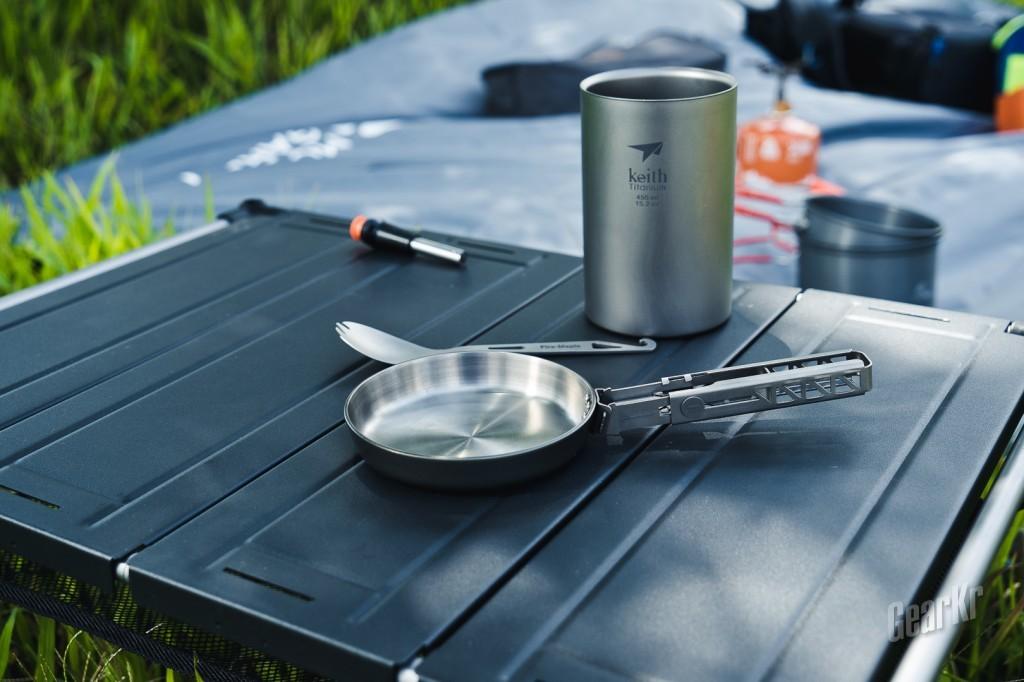 一款可以盘的锅,keith铠斯纯钛迷你煎锅