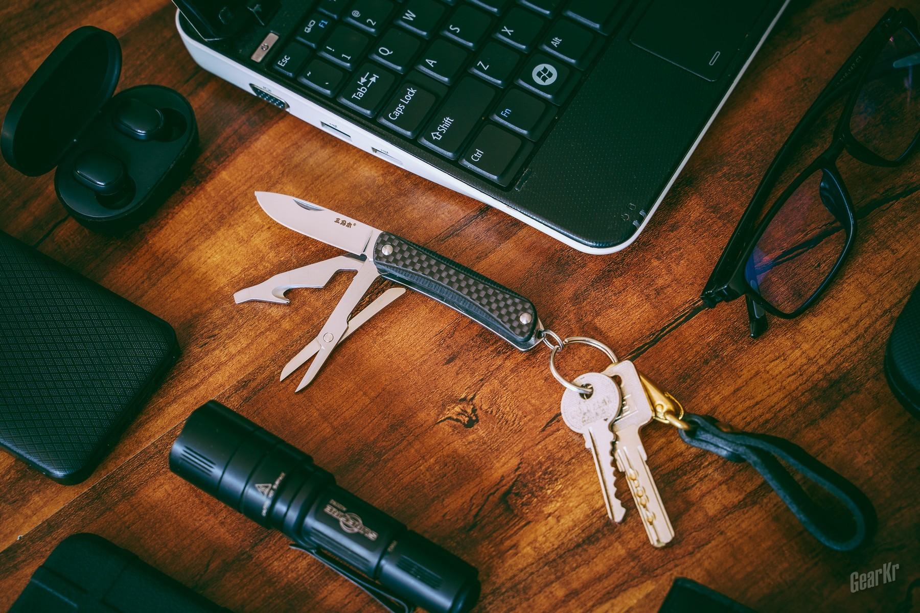 挂在钥匙环上的多功能军刀——三刃木WA631系列多功能军刀评测
