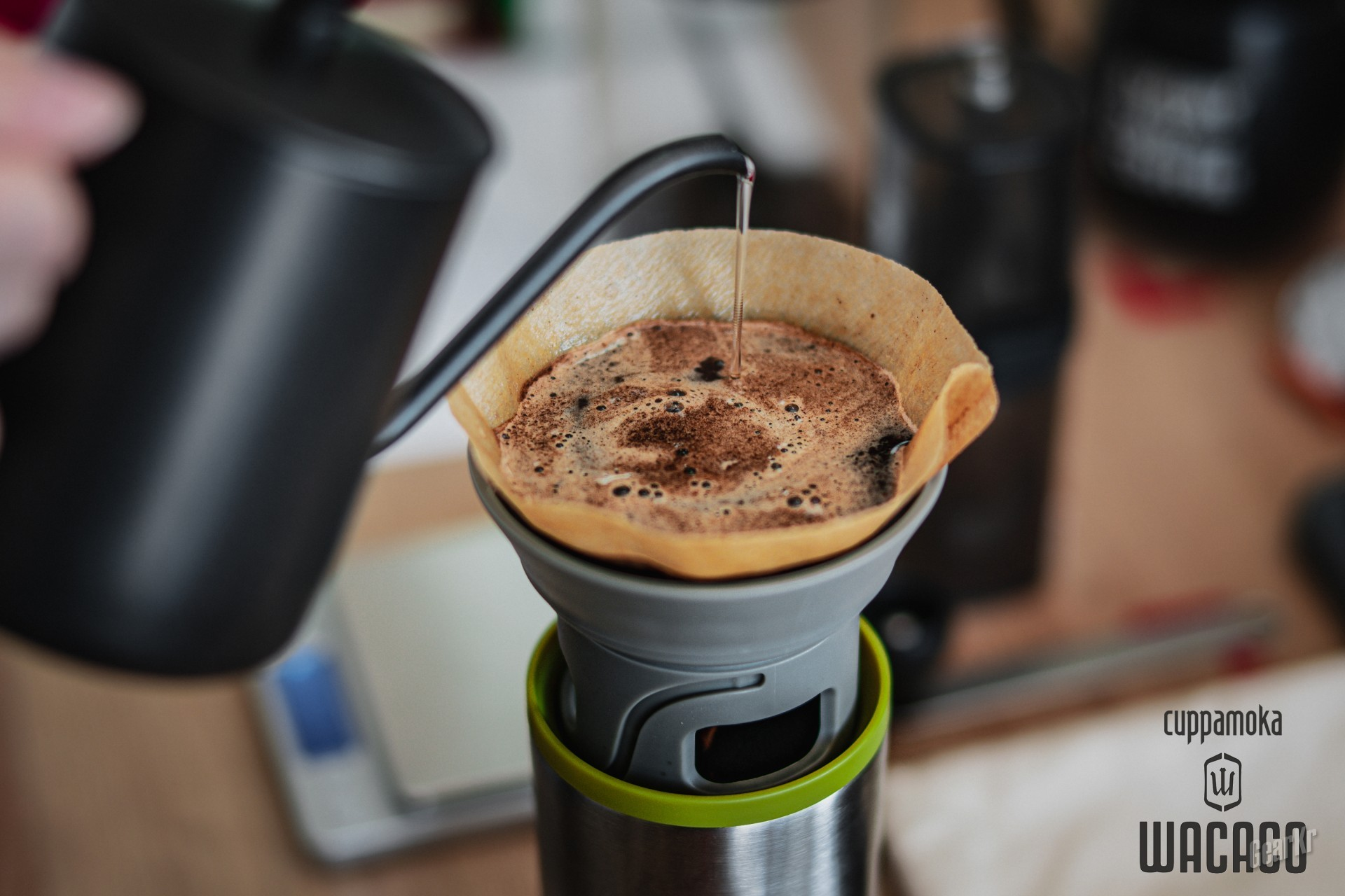 有时候,一杯咖啡的味道可能就差了个帮你磨豆的妹子——WACACO cuppamoka手冲套装